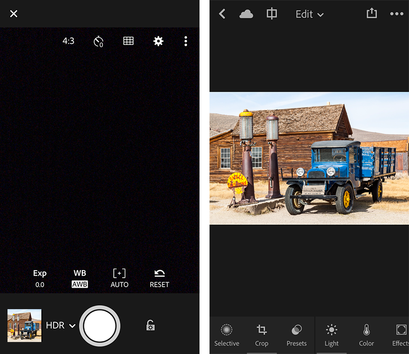 Lightroom for mobile의 HDR 모드(iOS)